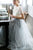 Two Piece Wedding Dresses A-line Sweep Train Lace Simple Tulle Bridal Gown OHD204