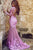 Mermaid Long Sleeves Open Back Tulle Prom Dress with Appliques OHC156 | Cathyprom