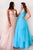 Modest Spaghetti Straps V-Neck Lace Appliques Sleeveless Long Tulle Prom Dresses Evening Dress OHC300 | Cathyprom