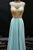 A-line Jewel Illusion Back Floor Length Light Blue Prom Dress with Beading P91 | Cathyprom