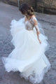 Ball Gown Floor-length Long Sleeves Tulle Bridal Gown Wedding Dresses with  Appliques OHD129 | Cathyprom