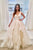 A-Line Scoop Floor-Length Ivory Tiered Wedding Dress Bridal Gown OHD070 | Cathyprom