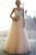 Sparkly A-line Straps Floor Length Sleeveless Tulle Beading Long Prom Dress Evening Dress OHC108 | Cathyprom