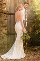 Mermaid Spaghetti Straps Backless Sleeveless Sweep Train Lace Wedding Dress OHD120 | Cathyprom
