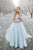 Deep V neck Boho Wedding Dress With Long Sleeve Rustic Wedding Dresses OHD214