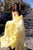 A Line Sweetheart Chiffon Asymmetrical Long Yellow/Pink Prom Dresses with Ruffles OHC519