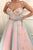 Sparkly Prom Dresses A Line Sleeveless Hand-Made Flower Long Pink Tulle Prom Dress Fashion Evening Dress OHC244 | Cathyprom