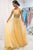 Sparkly A-line V neck Floor Length Sleeveless Tulle Long Prom Dresses Formal Dresses OHC112 | Cathyprom