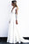 Elegant A-Line V-Neck Open Back Long Sleeves Wedding Dress with Lace OHD037 | Cathyprom