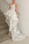 Two Piece Illusion Round Neck High-Low Wedding Jumpsuit/Dress with Appliques OHD055 | Cathyprom
