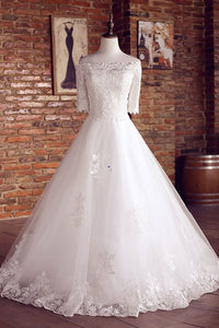 Charming Ball Gown Tulle Wedding Dresses Off The Shoulder Lace Wedding Dress Gown Bridal Gown OHD197