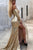 Mermaid Off-the-Shoulder Long Split Prom Dress Gold Sequined Evening Dress with Sleeves LPD77 | Cathyprom