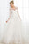 Bohemian Wedding Dresses A-Line Crew 3/4 Sleeves Wedding Gown Open Back Ivory Tulle Appliques Wedding Dress OHD226