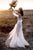 A-Line V-Neck Long Sleeves Floor-Length Wedding Dress with Appliques OHD067 | Cathyprom