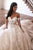 Gorgeous A Line Off the Shoulder White Wedding Dresses with Appliques OHD100 | Cathyprom