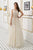 A Line Open Back Scoop Floor Length Rhinestone Long Tulle Prom Dresses OHC525