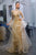V Neck A Line Floor Length Tulle Rhinestone Prom Dresses Party/Evening Dresses OHC527