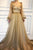 Chic A-line Scoop Floor Length Long Sleeves Applique Long Tulle Prom Dresses Evening Dresses OHC275 | Cathyprom