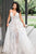 Tulle A-Line Spaghetti Straps Floor-Length White Wedding Dress with Appliques OHD045 | Cathyprom