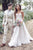 A-Line Sweetheart Sweep Train Wedding Dress with Appliques Beading OHD074 | Cathyprom