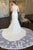 Mermaid Jewel Court Train White Tulle Wedding Dress with Appliques OHD005 | Cathyprom
