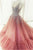 Sparkly Ball Gown V Neck Straps Sweep Train Sleeveless Rhinestone Long Tulle Prom Dress Evening Dress OHC194 | Cathyprom