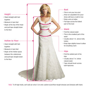 A-Line V-Neck Bell Sleeves Sweep Train Wedding Dress with Split OHD081