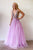 Modest Sexy A-Line Deep V-Neck Sweep Train Sleeveless Beaded Long Tulle Prom Dress OHC305 | Cathyprom