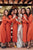 Sheath V-Neck Long Sleeves Ankle-Length Bridesmaid Dress with Split Sash OHS088 | Cathyprom