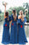 Sheath One-Shoulder Floor-Length Bridesmaid Dress with Sash OHS091 | Cathyprom