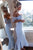 Mermaid Off-the-Shoulder Hi-Low Bridesmaid Dress with Lace OHS069 | Cathyprom