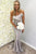 Mermaid Strapless Sweep Train Bridesmaid Dress with Ruffles OHS097 | Cathyprom