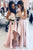A-Line Spaghetti Straps Floor-Length Bridesmaid Dress with Split OHS075 | Cathyprom