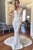 Mermaid V-Neck Backless Court Train White Wedding Dress with Appliques OHD012 | Cathyprom