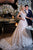 A-Line V-Neck Sweep Train Ivory Wedding Dress with Appliques OHD084 | Cathyprom