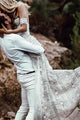 Mermaid Lace Sweetheart Elegant Bridal Long Wedding Dresses, Boho Bridal Dress Bridal Gown OVR100