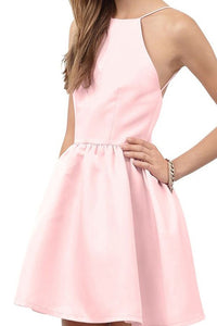 Charming Jewel A-line Short Prom Dress Open Back Pink Homecoming Dress LPD71 | Cathyprom