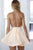 A-Line Halter Backless Sleeveless Homecoming Dresses Sequins OHM007 | Cathyprom