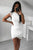 Sexy Sheath Tight Jewel White Lace Tulip Short Homecoming Dress Party Dress OHM197