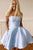 Elegant Strapless Satin Homecoming Dress with Beading Pockets OHM047 | Cathyprom