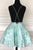 Sweet Square Above Knee Sleeveless Homecoming Dress with Appliques OHM056 | Cathyprom