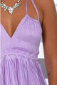 Simple Backless V-Neck Ruched Homecoming Party Dress OHM052 | Cathyprom