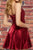 Modest V-neck Sleeveless Ruched Formal Homecoming Party Dress OHM059 | Cathyprom