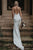 Simple Mermaid/Trumpet V-Neck Satin Open Back Bridal Gown Long White Elastic Satin Wedding Dress OHD233