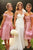 A-Line Off-the-Shoulder Knee Length Bridesmaid Dress with Pleats OHS036 | Cathyprom