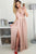 A-Line Jewel Floor-Length Blush Chiffon Prom Dress with Keyhole OHC053 | Cathyprom