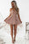 A-Line Spaghetti Straps Hi-Lo Lace Homecoming Dress OHM034 | Cathyprom