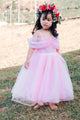 Cute A-line Off-shoulder Floor Length Tulle Sleeveless Flower Girl Dresses OHR037 | Cathyprom