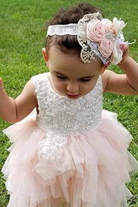 A-line Knee length Tulle Flower Girl Dress with Lace Party Dress OHR021 | Cathyprom