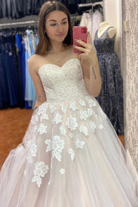 Ball Gown Strapless Wedding Dresses Wedding Dress Wedding Gown Bridal Gown OHD173 | Cathyprom